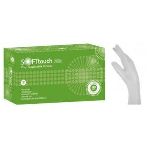 Soft Touch Γάντια Βινυλίου - Λευκό με πούδρα