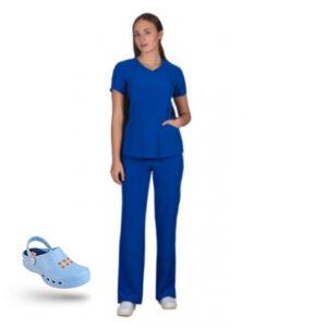 Προσφορά Σετ Σαμπό Wock Nube (02) γαλάζιο & Ιατρική Στολή Stretch bolioti.gr