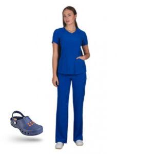 Προσφορά Σετ Σαμπό Wock Nube (01) σκούρο μπλε & Ιατρική Στολή Stretch bolioti.gr